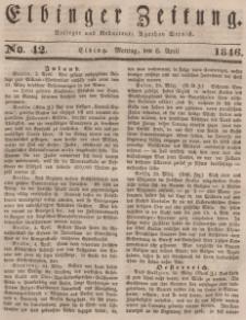 Elbinger Zeitung, No. 42 Montag, 6. April 1846