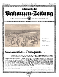 Schwartzsche Vokanzen-Zeitung, Jg. 69, 1939, Nr 20