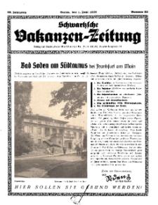 Schwartzsche Vokanzen-Zeitung, Jg. 69, 1939, Nr 22