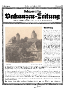 Schwartzsche Vokanzen-Zeitung, Jg. 69, 1939, Nr 23