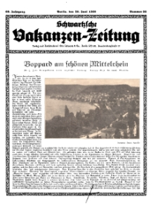 Schwartzsche Vokanzen-Zeitung, Jg. 69, 1939, Nr 26