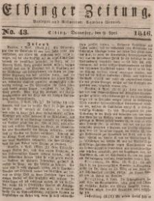 Elbinger Zeitung, No. 43 Donnerstag, 9. April 1846