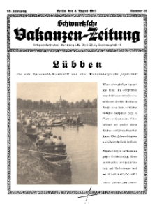 Schwartzsche Vokanzen-Zeitung, Jg. 69, 1939, Nr 31