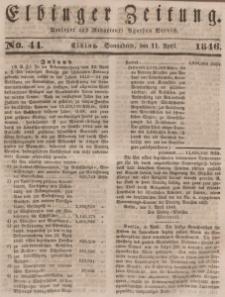 Elbinger Zeitung, No. 44 Sonnabend, 11. April 1846
