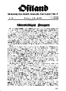 Ostland : Halbmonatsschrift für Ostpolitik, Jg. 18, 1937, Nr 15.