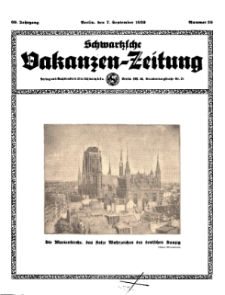 Schwartzsche Vokanzen-Zeitung, Jg. 69, 1939, Nr 36