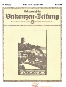 Schwartzsche Vokanzen-Zeitung, Jg. 69, 1939, Nr 37
