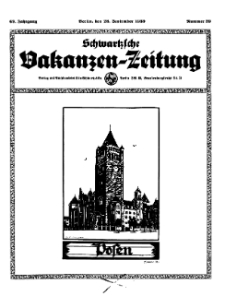 Schwartzsche Vokanzen-Zeitung, Jg. 69, 1939, Nr 39