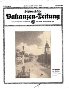 Schwartzsche Vokanzen-Zeitung, Jg. 69, 1939, Nr 43
