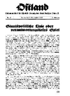 Ostland : Halbmonatsschrift für Ostpolitik, Jg. 18, 1937, Nr 17.