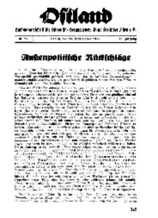 Ostland : Halbmonatsschrift für Ostpolitik, Jg. 18, 1937, Nr 18.