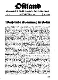 Ostland : Halbmonatsschrift für Ostpolitik, Jg. 18, 1937, Nr 19.