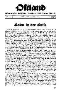 Ostland : Halbmonatsschrift für Ostpolitik, Jg. 18, 1937, Nr 21.