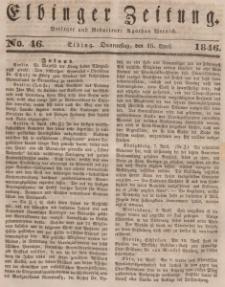 Elbinger Zeitung, No. 46 Donnerstag, 16. April 1846