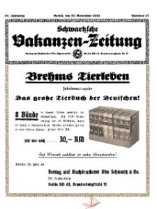 Schwartzsche Vokanzen-Zeitung, Jg. 69, 1939, Nr 47