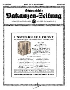 Schwartzsche Vokanzen-Zeitung, Jg. 69, 1939, Nr 50