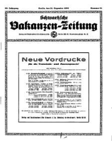 Schwartzsche Vokanzen-Zeitung, Jg. 69, 1939, Nr 51