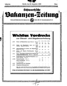 Schwartzsche Vokanzen-Zeitung, Jg. 69, 1939, Nr 52