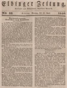 Elbinger Zeitung, No. 48 Montag, 20. April 1846