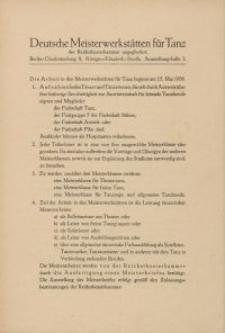 Deutsche Meisterwerkstätten für Tanz - broszura