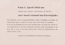 Vom 1. April 1943 an... [ulotka]