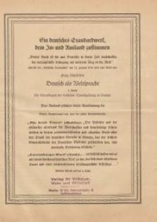 Ein deutsches Standardwerk…- ulotka