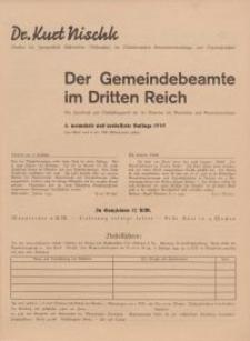 Der Gemeindebeamte im Dritten Reich - ulotka