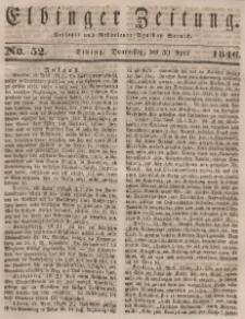 Elbinger Zeitung, No. 52 Donnerstag, 30. April 1846