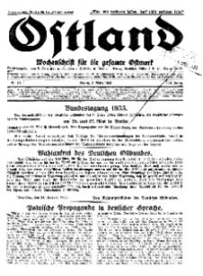 Ostland : Wochenschrift für die gesamte Ostmark, Jg. 14, 1933, Nr 10.