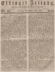 Elbinger Zeitung, No. 53 Sonnabend, 2. Mai 1846