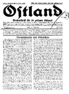 Ostland : Wochenschrift für die gesamte Ostmark, Jg. 14, 1933, Nr 14.