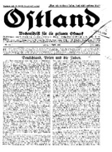 Ostland : Wochenschrift für die gesamte Ostmark, Jg. 14, 1933, Nr 15.