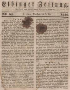 Elbinger Zeitung, No. 54 Dienstag, 5. Mai 1846