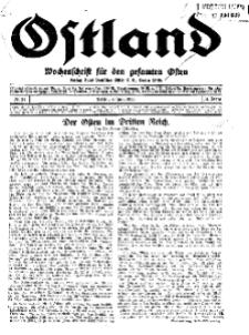 Ostland : Wochenschrift für die gesamte Ostmark, Jg. 14, 1933, Nr 24.