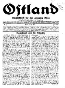 Ostland : Wochenschrift für die gesamte Ostmark, Jg. 14, 1933, Nr 29.