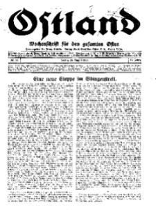Ostland : Wochenschrift für die gesamte Ostmark, Jg. 14, 1933, Nr 34.