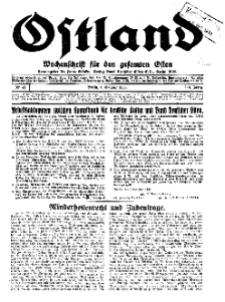 Ostland : Wochenschrift für die gesamte Ostmark, Jg. 14, 1933, Nr 41.