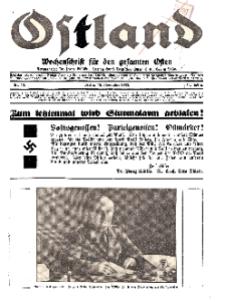Ostland : Wochenschrift für die gesamte Ostmark, Jg. 14, 1933, Nr 46.