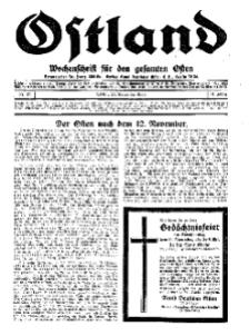 Ostland : Wochenschrift für die gesamte Ostmark, Jg. 14, 1933, Nr 47.