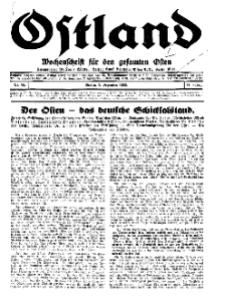 Ostland : Wochenschrift für die gesamte Ostmark, Jg. 14, 1933, Nr 50.