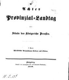 Achter Provinzial Landtag der Stände des Königreichs Preussen, 1843