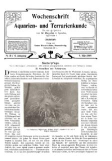 Wochenschrift für Aquarien und Terrarienkunde, 6. Jg. 1909, Nr. 10.