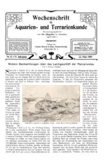 Wochenschrift für Aquarien und Terrarienkunde, 6. Jg. 1909, Nr. 12.