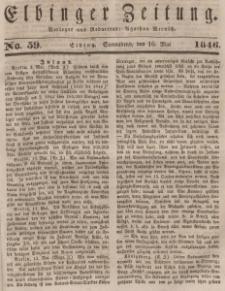 Elbinger Zeitung, No. 59 Sonnabend, 16. Mai 1846