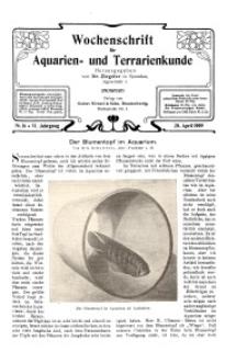 Wochenschrift für Aquarien und Terrarienkunde, 6. Jg. 1909, Nr. 16.