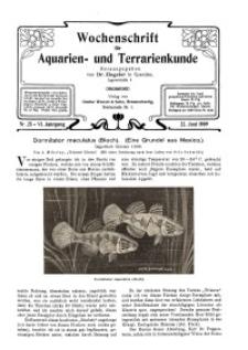 Wochenschrift für Aquarien und Terrarienkunde, 6. Jg. 1909, Nr. 25.