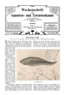 Wochenschrift für Aquarien und Terrarienkunde, 6. Jg. 1909, Nr. 48.