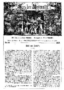 Aus der Heimath. Ein naturwissenschaftliches Volksblatt, 1859, No. 10.