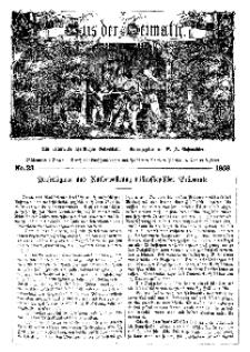 Aus der Heimath. Ein naturwissenschaftliches Volksblatt, 1859, No. 23.