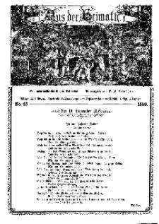 Aus der Heimath. Ein naturwissenschaftliches Volksblatt, 1859, No. 45.